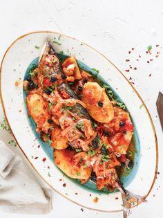 Σκουμπρί πλακί πικάντικο #σκουμπρί Vegetable Pizza, Seafood, Food Porn, Vegetables, Recipes, Sea Food, Vegetable Recipes, Ripped Recipes