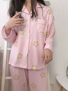 Fashion cute star pajamas sold by Dream castle. Shop more products from Dream castle on Storenvy, the home of independent small businesses all over the world. Cute Pajama Sets, Cute Pjs, Cute Pajamas, Pajamas Women, Cute Comfy Outfits, Pretty Outfits, Cool Outfits, Kawaii Fashion, Cute Fashion