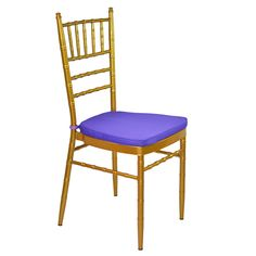 Gold Tiffany Chair with Purple Cushion