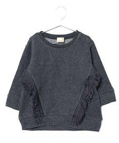 フリンジトレーナー(スウェット)|petit main(プティマイン)のファッション通販 - ZOZOTOWN