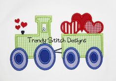 Tractor with Hearts Applique Machine Embroidery Design INSTANT DOWNLOAD Applique Patterns, Applique Designs, Machine Embroidery Designs, Hand Embroidery, Elephant Applique, Baby Elephant, Star Stitch, Dog Shirt, Stitch Design