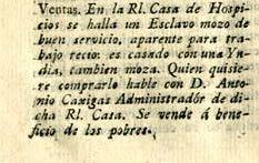 Venta de esclavo y su esposa · Archivo de Publicidad Colombiana 1800-1950