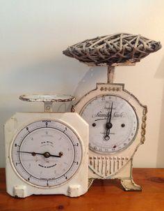 Vintage kitchen scales, chinaandoldstuff