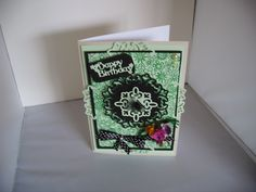 tattered lace birthday card