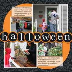 Halloween Scrapbook Pages | Creative Cucina