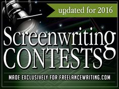 Screenwriting Contests and Competitions for 2015