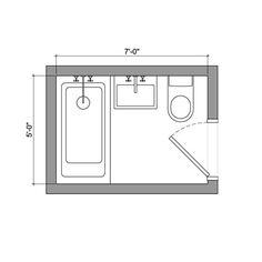 bathroom floor planHalf bath part of master bah for guests use