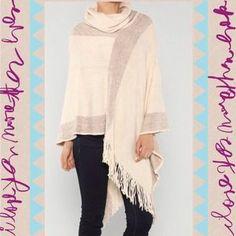 I just added this to my closet on Poshmark: FLASH SALENew Cowl neck fringed poncho sweater. Price: $30 Size: One Size