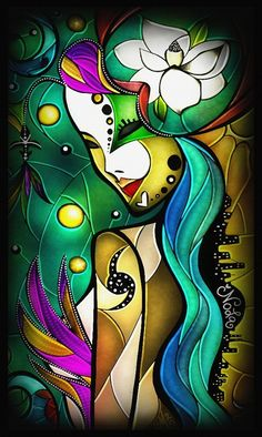 New Orleans Lady Magnolia, Louisiana purple iris, Mardi Gras mask, voodoo doll, hurricane, heart, LSU & Saints colors, the NOLA skyline over the MS River... AMAZING!