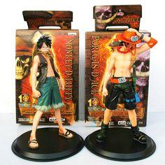 Anime One Piece Monkey.D.Luffy Portagas D Ace PVC Action Figure 2pcs/lot Toys Gifts //Price: $31.90 & FREE Shipping //   #uzumakinaruto #anime