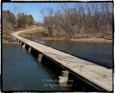 Congressionally approved and protected private wooden toll bridge in Oldtown, Md.