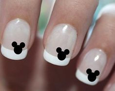 Mickey Mouse Ears Disney Nail Art Water Transfer Decal - Many Colors to Choose From - Waterslide Paper - Water Slide Paper| etsy.com