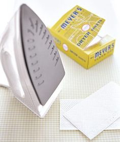 Sewing tip: Run your iron over a dryer sheet to remove any built up residue/sticky gunk.