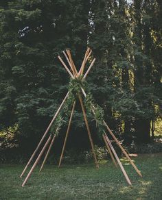 make your own teepee out of bamboo and tarps - then spray paint tarps to suit colours