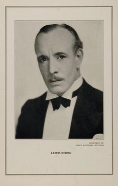 1927 Silent Film Star Lewis Stone First National Studio - ORIGINAL