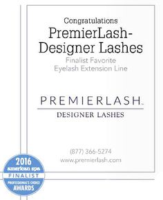 2016 American Spa FINALIST |  Voted  Favorate Eyelash Extension Line