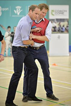 Boys will be boys, Prince William, Prince Harry #Glasgow 2014
