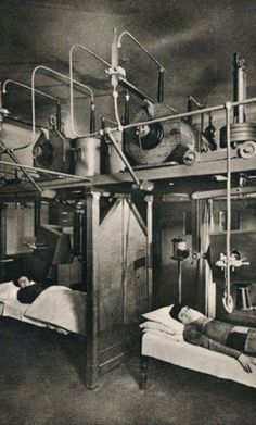Radium therapy being administered in an insane asylum