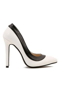 ROMWE | Dual-tone Sexy Pointed Toe High Heels, The Latest Street Fashion