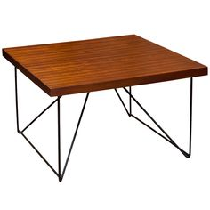 Luther Conover; Mahogany and Wrought Iron Coffee Table, 1950s.