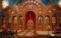 Saints Volodymyr and Olha Ukrainian Catholic Church, Chicago (click to see larger) #iconostasis