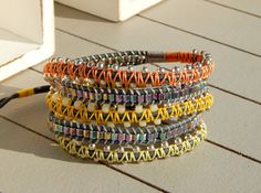 Silver Grey Macrame Garden 5x wrap Bracelet, macrame wrap bracelet, boho bohemian bracelet