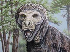 Fluffy t-rex face