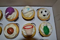 what do you think? Sports Day, Themed Cupcakes, Desserts, Food, Photography, Meal, Deserts, Essen, Hoods
