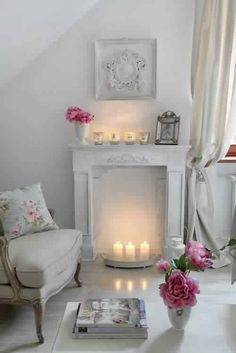 cozy fireplace,  vintage dishes,  #rustic