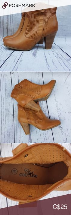 Shop Women's Club Couture Tan size 8 Ankle Boots & Booties at a discounted price at Poshmark. Description: Like new, worn couple of times this Spring. Fast Fashion, Plus Fashion, Fashion Tips, Fashion Trends, Bootie Boots, Ankle Boots, Couture Shoes, Oxford Shoes, Dress Shoes