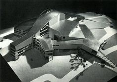 Model of Hans Scharoun's Entry to the Competition for the Staatstheater in Kassel, Germany, in Architecture Drawings, Interior Architecture, Hans Scharoun, Critical Regionalism, Model Magic, Arch Model, Theatre Design, Germany, Architectural Models