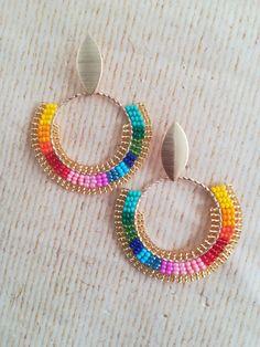 Seed Bead Jewelry, Bead Jewellery, Seed Bead Earrings, Resin Jewelry, Handmade Jewelry, Bead Embroidery Jewelry, Beaded Jewelry Patterns, Beaded Earrings Native, Beaded Bracelets