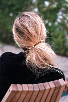 Le Fashion Blog Fall Style Blonde Hair Jessica De Ruiter Gold Barrette Via Rip…