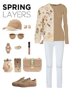 """""""Untitled #7"""" by ysendjaja on Polyvore featuring Rebecca Minkoff, Balmain, Needle & Thread, Valentino, BCBGeneration, Yves Saint Laurent, Marc by Marc Jacobs, Louis Vuitton, Illume and NARS Cosmetics"""