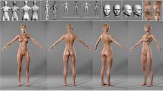 3D girl, topology