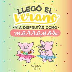 Llegó el verano y a disfrutar como marranos!! #tupecitosfamily #tupecitos #verano #yaestasaqui #vivaelverano #adisgrutar #fiesta #barcelonacreativa #design #ilustracion #dibujo #elverano