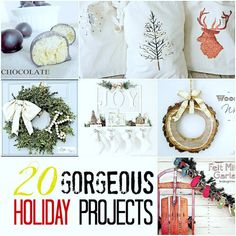 20 Gorgeous Holiday Projects!! -- Tatertots and Jello