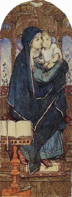 Viktor Vasnetsov, The Virgin and Child Enthroned, 1885-93, Tretyakov Gallery, Moscow, Russia