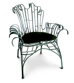 """""""Organic Baroque Chair"""" by Tony Duquette for Baker Furniture."""