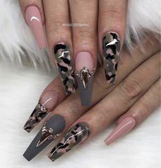 Nail Shapes - My Cool Nail Designs Glam Nails, Hot Nails, Nail Swag, Fabulous Nails, Gorgeous Nails, Stylish Nails, Trendy Nails, Army Nails, Military Nails