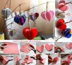Paper heart tree.