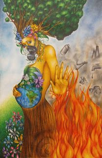 Karakalem çizimler The heat makes many chemicals more volatile. Save Environment Posters, Environment Painting, Save Environment Poster Drawing, Art Drawings Sketches, Cute Drawings, Save Earth Drawing, Mother Earth Drawing, Save Water Poster Drawing, Earth Drawings