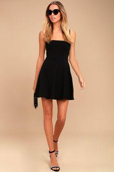 Get to Bow Me Black Skater Dress 2