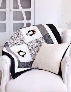 Hand made penguin quilt
