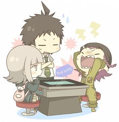 Chiaki and Souda were playing a game and Souda get rekted m8.
