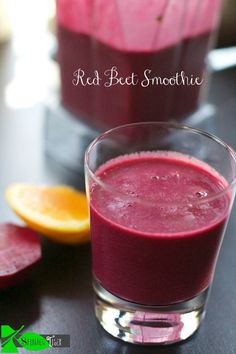 Healthy Red Beet Vitamix Smoothie Recipe by Spinach Tiger