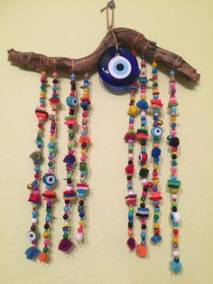 driftwood, nazarlık, amulet Felt Christmas Ornaments, Christmas Wood, Diy And Crafts, Arts And Crafts, Paper Napkins For Decoupage, Scrap Material, Driftwood Crafts, Evil Eye Jewelry, Felt Baby