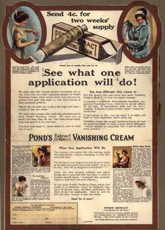 Pond's Extract Co.'s Pond's Vanishing Cream – See what one application will do (1915)