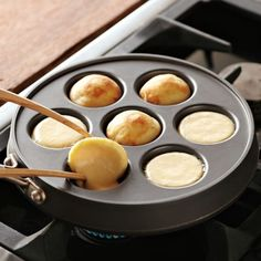 Nordic Ware Ebelskiver Filled-Pancake Pan #williamssonoma Reminds me of my childhood! Buying one!