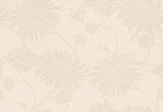 Kimono Linen - Laura Ashley Wallpapers - A stylish design of ornate, oriental chrysanthemums in shimmering metallic bronze on a beautiful matt linen-beige background. Additional colourways also available. Please request a sample for true colour match.